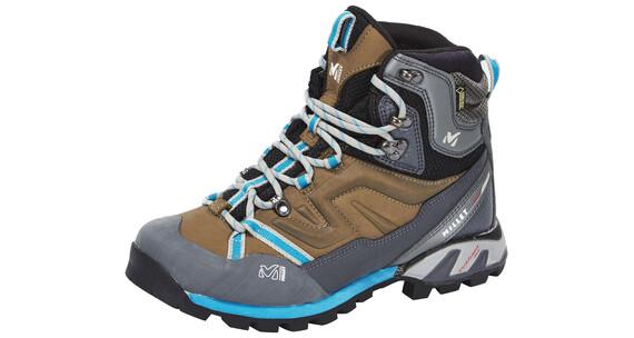 Millet High Route GTX Shoes Women faint brown/blue bell